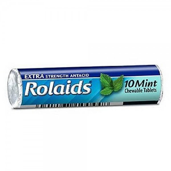 Rolaids Extra Strength Antacid Chewable Tablets, Mint 10 ea