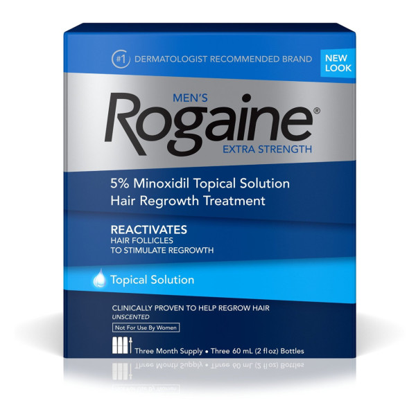Rogaine Men's Extra Strength 3 Month Supply, Unscented 6 oz