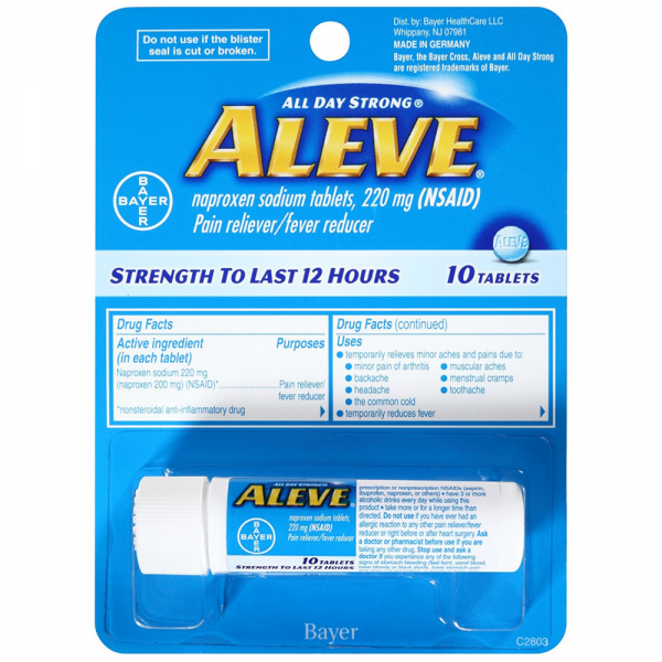Aleve Pain Reliever/Fever Reducer Tablets, 220 mg 10 ea