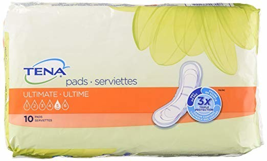 "Bladder Control Pad TENA Intimates Ultimate 16"" Length Heavy"