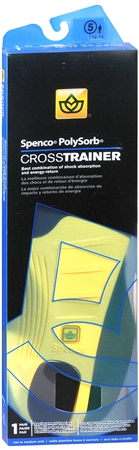 Spenco PolySorb Cross Trainer Insoles #5 1 Pair