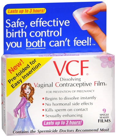 VCF Vaginal Contraceptive Films 9 Each