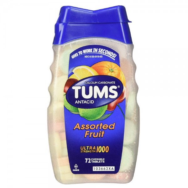 TUMS Ultra Strength Antacid/Calcium Chewable Tablets, Assort