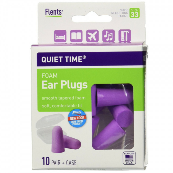 Flents Quiet Time Soft Foam Ear Plugs with Carrying Case 10