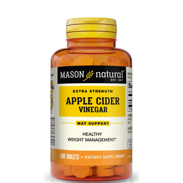 Mason Natural Apple Cider Extra Strength Vinegar Tablets 100