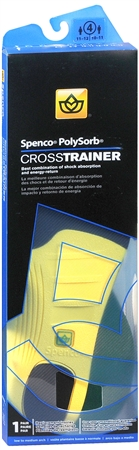 Spenco PolySorb Cross Trainer Insoles Size 4 1 Pair