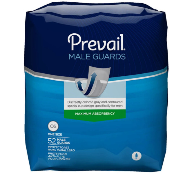 "Bladder Control Pad Prevail Male Guard 13"" Length Moderate A"