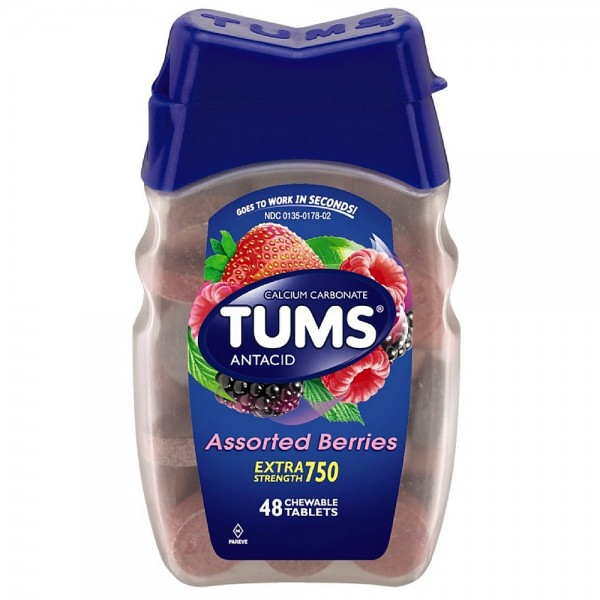 TUMS Extra Strength Antacid Chewable Tablets, Assorted Berri