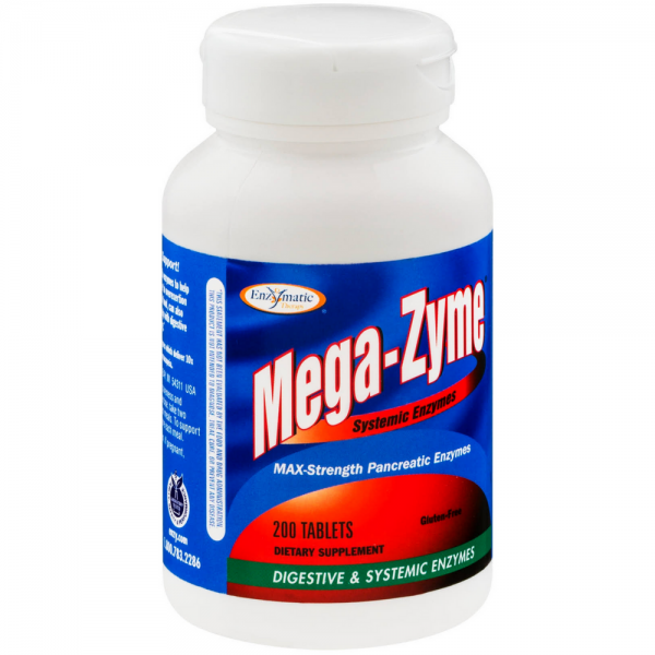 Enzymatic Therapy Mega-Zyme Systemic Enzymes Tablets 200 ea